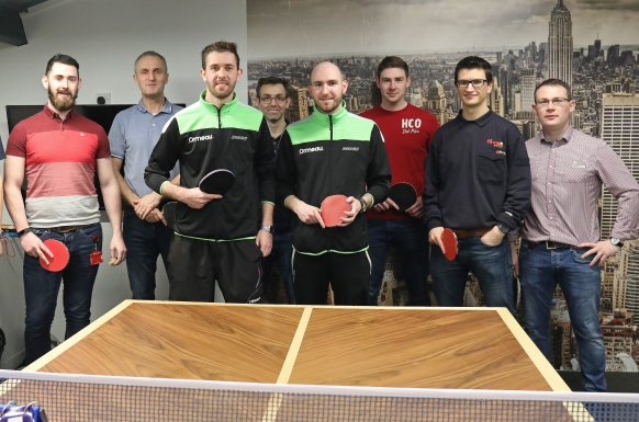 Ormeau Table Tennis Club visits firmus energy