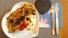 Sweet Breakfast Omelette by The Clever Cook