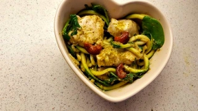 Image: Pesto Courgette Spaghetti Recipe