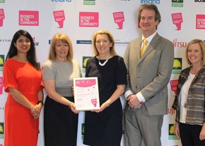 Caption: Responsible Employer Shortlist: Sonia Armstrong, Ulster Business; Sue Robinson, HR Manager, firmus energy; Clare McAllister, Electric Ireland; Michael Scott Managing Director, firmus energy; and Claire Hutchinson, Diageo NI.