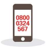 Image: Mobile phone with firmus contact number