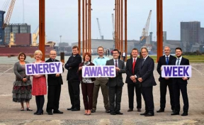 firmus energy Energy Aware week partners at Belfast Titanic slipway
