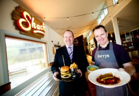 Image: Kevin Flanagan, firmus energy & Donal Doherty, Harry's shack