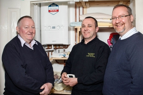 Ronnie, John McCusker & Gavin from firmus energy