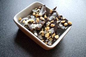 Image: Chocolate bark food recipe in a bowl