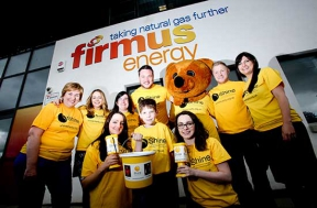 Image: firmus energy CSR staff outside our office