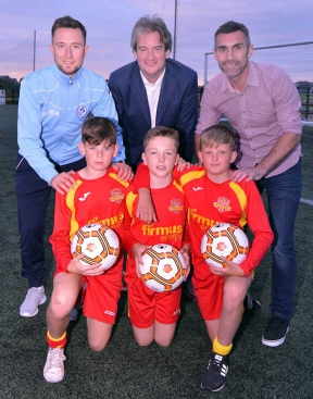 Image: Thomas McStravick, Michael Scott Keith Gillespie & young Mid Ulster players