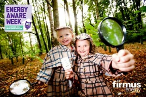 Image: firmus energy Aware Week with our two little girl investigators