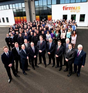Image: all firmus energy staff at our office in antrim