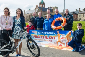 Image: launch of City of Derry Triathlon 2016