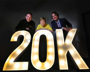 Image; Joe Diver, Cathy McKillop, Shine Charity, Michael Scott firmus energy