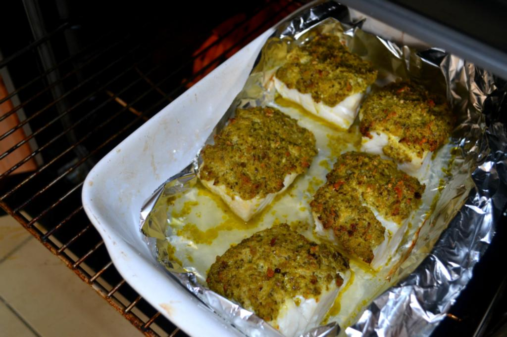how to cook herb crusted cod