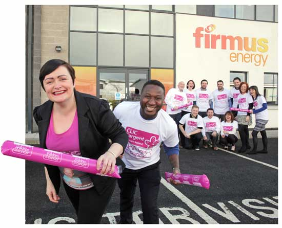 Image: firmus energy CLIC Sargent charity of the year