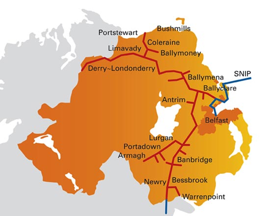 Our natural gas network towns firmus energy